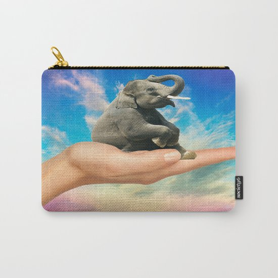 Save The Elephants Carry-All Pouch