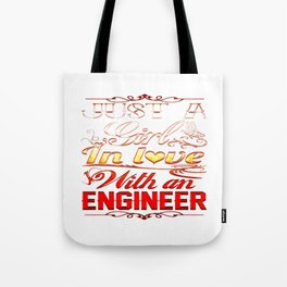 Love with an Engineer Tote Bag