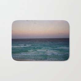 Beach and sky at sunset time Bath Mat