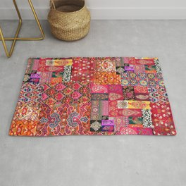 -A35- Traditional Colored Moroccan Artwork. Rug
