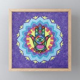 Lucky Hamsa Mandala Framed Mini Art Print