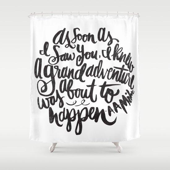 grand adventure Shower Curtain