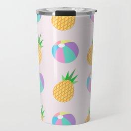 Beach Balls & Pineapples Travel Mug