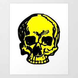 Yellow Pirate Skull, Vibrant Skull, Super Smooth Super Sharp 9000px x 11250px PNG Art Print
