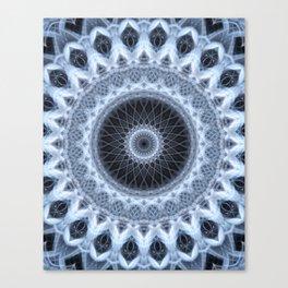 Silver and gray mandala Canvas Print