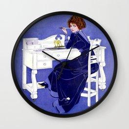 """C Coles Phillips 'Fadeaway Girl'  """"Dear or Dearest"""" Wall Clock"""