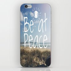 Be at peace iPhone & iPod Skin