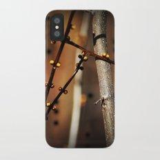 fire sunset tree buds Slim Case iPhone X