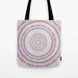 Watercolor Pastel Flowe Mandala Tote Bag