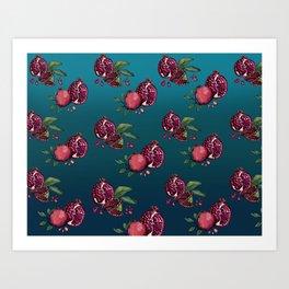 Pomegranate Parade Art Print