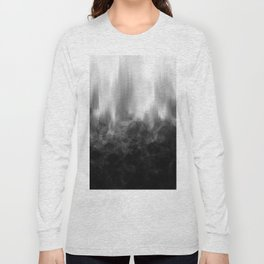 B&W Spotted Blur Long Sleeve T-shirt