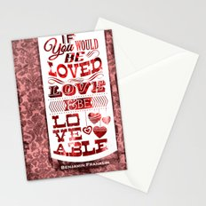 To Be Loved Stationery Cards