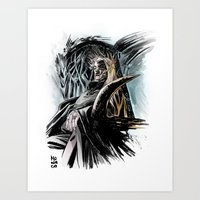 thranduil Art Prints featuring Thranduil by Melo Monaco