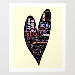 Multilingual Love Art Print
