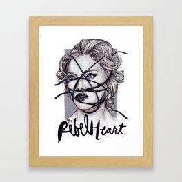 Rebel Heart by nickdrawart Framed Art Print