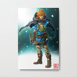 The Legend of Zelda: Breath of the Wild - Link Metal Print