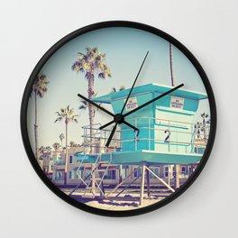Retro Beach Wall Clock