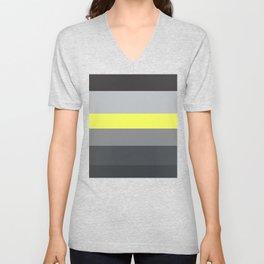 black and yellow Unisex V-Neck