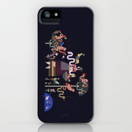 Monkeys and fruits iPhone Case