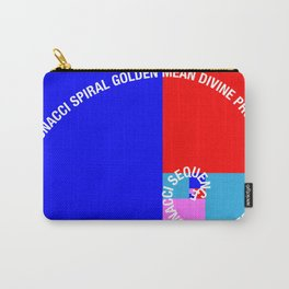 Golden Ratio, Fibonacci Spiral, Typographic Carry-All Pouch