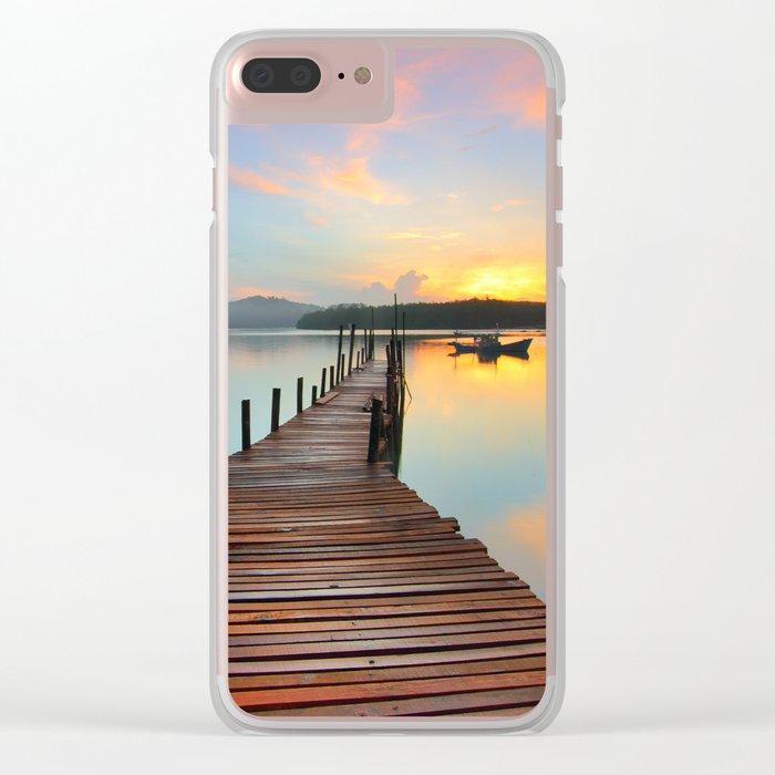 Lake Fantastic Clear iPhone Case
