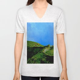 The Rolling Hills of County Clare Unisex V-Neck