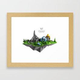 CheckiO island Framed Art Print