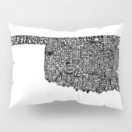 Typographic Oklahoma Pillow Sham