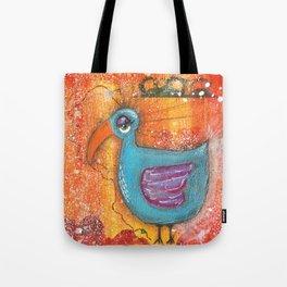 Sleepy Eyed Bird #1 Tote Bag
