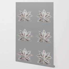 Gray Agave with Rose Gold Glitter #1 #shiny #tropical #decor #art #society6 Wallpaper