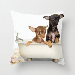 Chihuahua Puppy Shower Curtain Throw Pillow