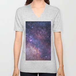 Purple Galaxy Star Travel Unisex V-Neck