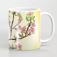 cherry blossoms Mugs featuring Cherry Blossoms by famenxt