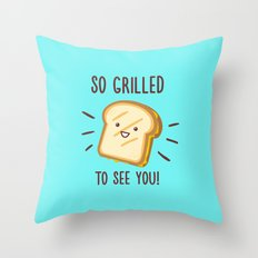 Cheesy Greetings! Throw Pillow