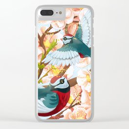 The seasons | Spring birds Clear iPhone Case
