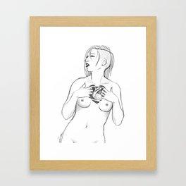 werewolf heart Framed Art Print