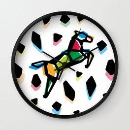 Rainbow Anigami Horse Wall Clock