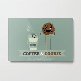 COFFEE & COOKIE Metal Print