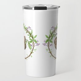Sloth in Jungle Wreath Travel Mug