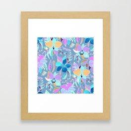 Pastel Tropical Floral Framed Art Print