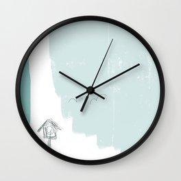 birds coming home Wall Clock