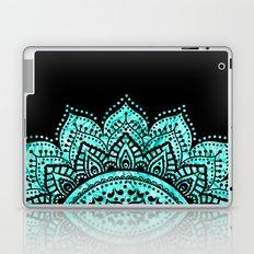 Black teal mandala Laptop & iPad Skin
