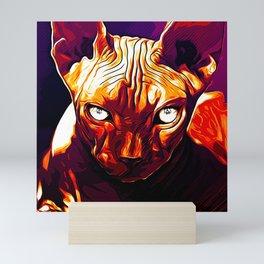 sphynx cat from hell va Mini Art Print