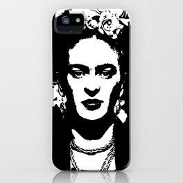 Black 'n white Frida iPhone Case