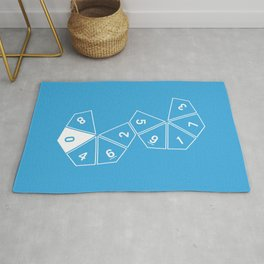 Blue Unrolled D10 Rug