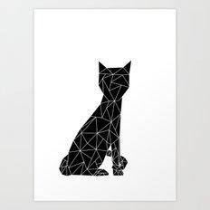 Eleven Quads Cat Art Print