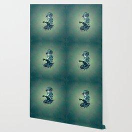 Sugar skull girl in blue Wallpaper