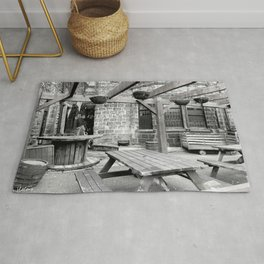 recycled bar terrace Rug