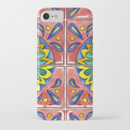 Watercolor Mexican Tile iPhone Case