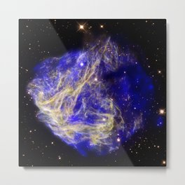 1866. Stellar Shrapnel Seen in Aftermath of Explosion - A supernova remnant located in the Large Magellenic Cloud. Metal Print